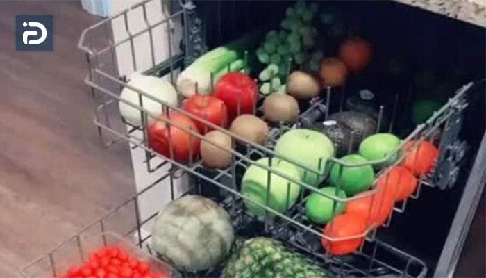 نحوه شستن میوه در ماشین ظرفشویی