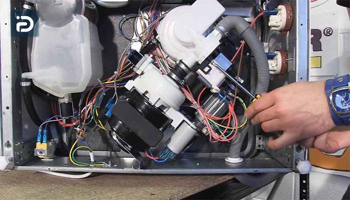 نحوه تعویض موتور گردش ماشین ظرفشویی