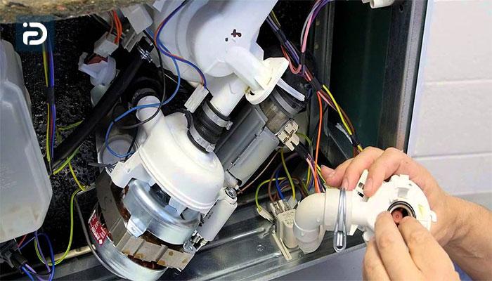 تعویض موتور شستشوی ماشین ظرفشویی